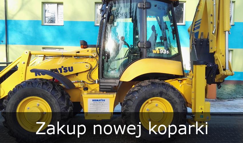 Zakup nowej koparki dla PK. KOMES